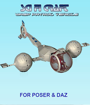 Sci Fi Craft Wasp Patrol Vehicle 3D Models Simon-3D