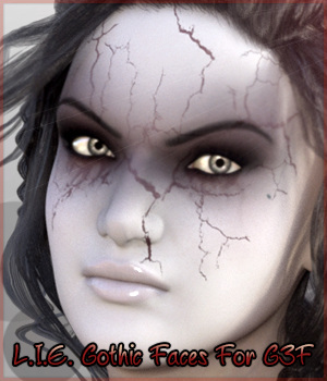 L.I.E. Gothic Faces For Genesis 3 Female 3D Figure Assets fictionalbookshelf