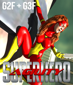 SuperHero Agility for G2F & G3F Volume 1  3D Figure Essentials GriffinFX