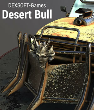 Desert Bull Vehicle Extended License 3D Models 3D Game Models : OBJ : FBX Extended Licenses dexsoft-games