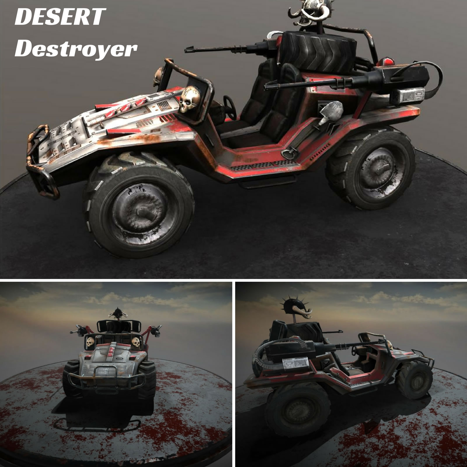 Desert Destroyer Vehicle - Extended License