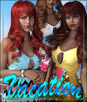 Vacation for Fashion Blizz: Cami Top 3D Figure Assets ShanasSoulmate