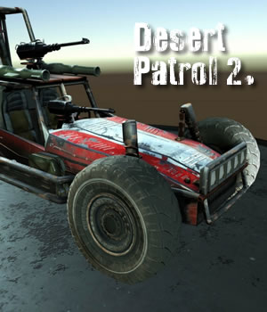 Desert Patrol 2  Vehicle - Extended License 3D Models 3D Game Models : OBJ : FBX Extended Licenses dexsoft-games
