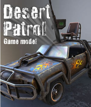 Desert Patrol 3D Models 3D Game Models : OBJ : FBX Extended Licenses dexsoft-games
