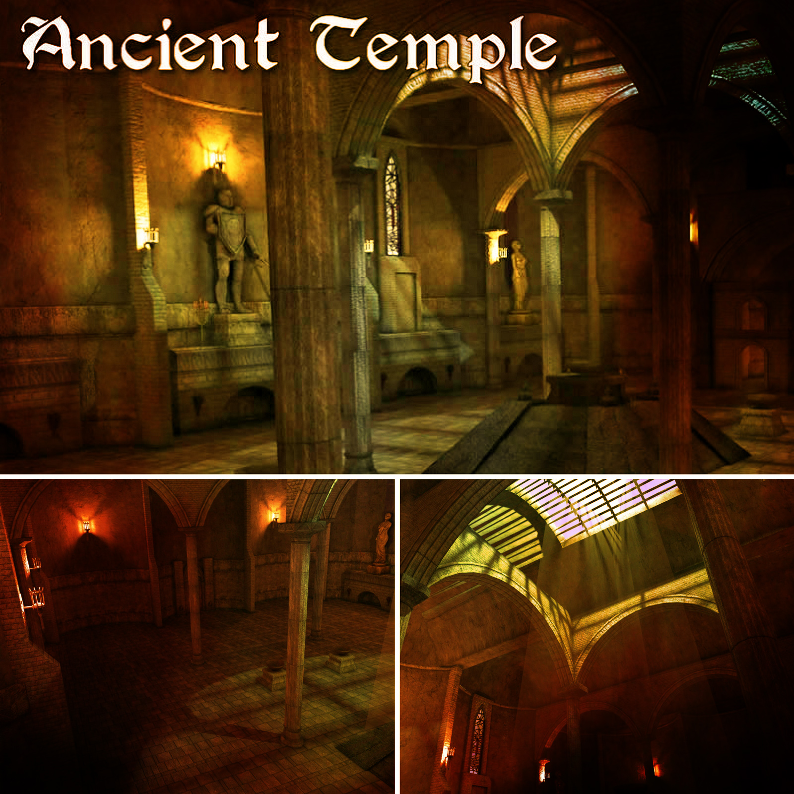 Ancient Temple - game models
