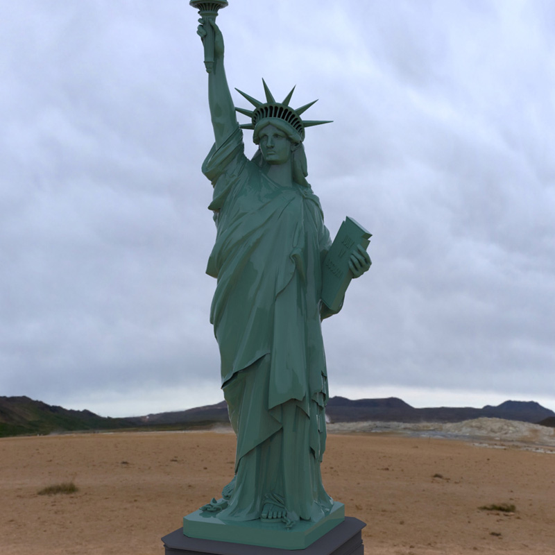 Statue of Liberty for Wavefront OBJ and Vue  - Extended License