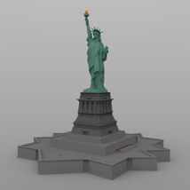 Statue of Liberty for Wavefront OBJ and Vue  - Extended License image 1
