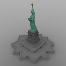 Statue of Liberty for Wavefront OBJ and Vue  - Extended License image 2