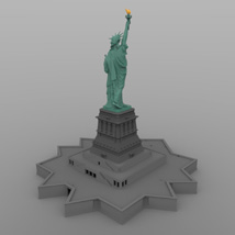 Statue of Liberty for Wavefront OBJ and Vue  - Extended License image 3