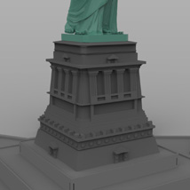 Statue of Liberty for Wavefront OBJ and Vue  - Extended License image 4