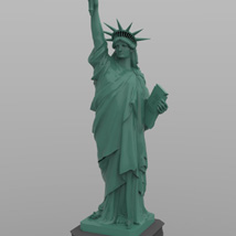Statue of Liberty for Wavefront OBJ and Vue  - Extended License image 5