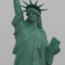 Statue of Liberty for Wavefront OBJ and Vue  - Extended License image 6