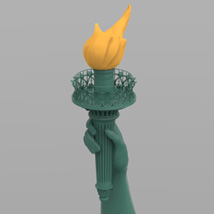 Statue of Liberty for Wavefront OBJ and Vue  - Extended License image 7
