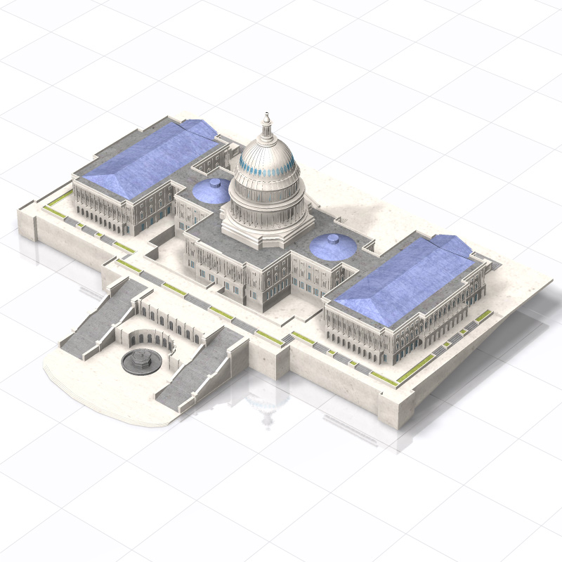 US Capitol  for Poser - obj - Vue - Extended License