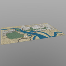 Washington DC Cityscape for Wavefront OBJ  - Extended License 3D Models Extended Licenses Digimation_ModelBank