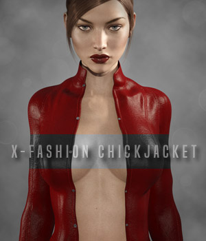 X-Fashion ChickJacket for Genesis 3 Female(s) 3D Figure Essentials xtrart-3d