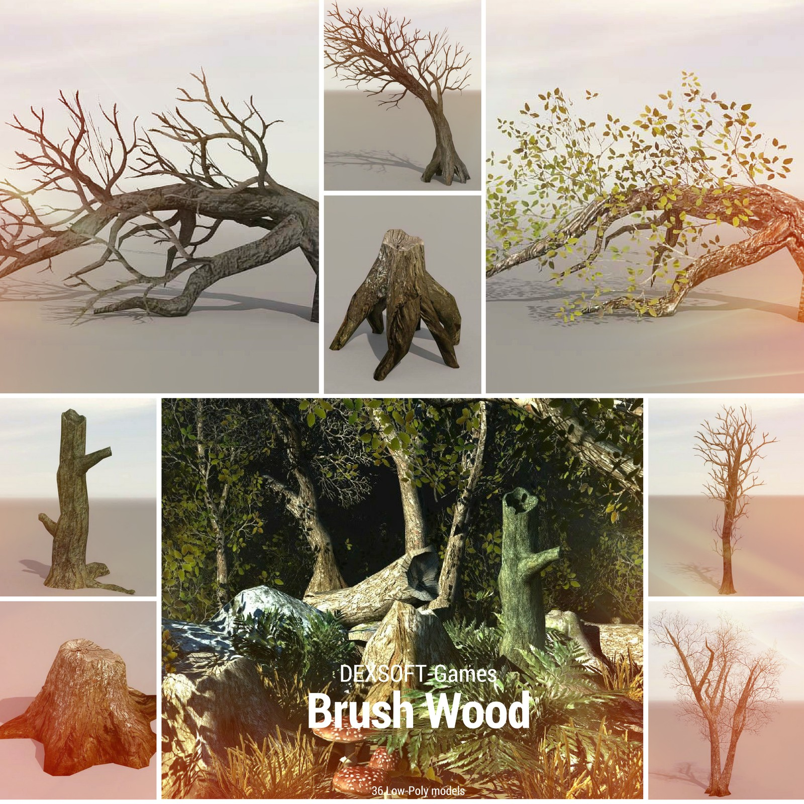 Brush Wood - Game models pack