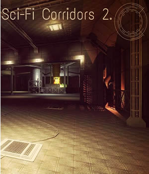 Sci-Fi Corridors 2. 3D Models Game Content - Games and Apps Extended Licenses dexsoft-games