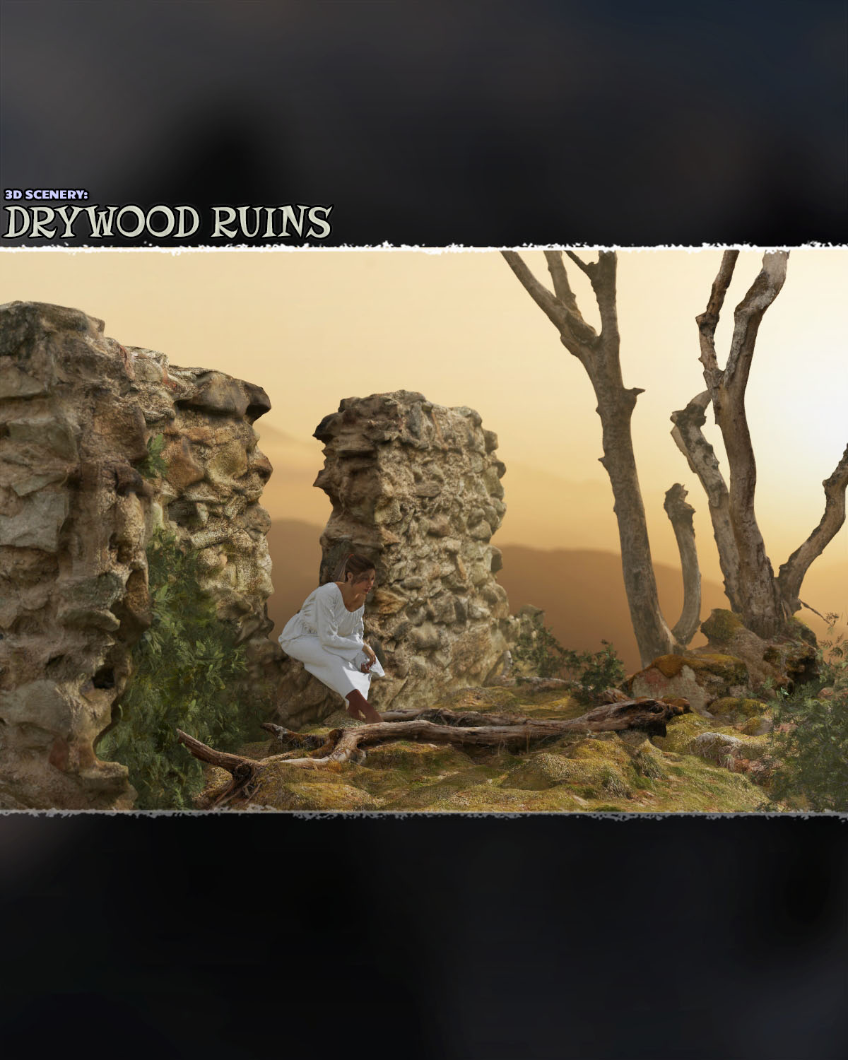 3D Scenery: Drywood Ruins - Extended License by ShaaraMuse3D