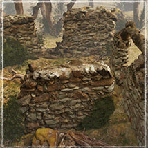 3D Scenery: Drywood Ruins - Extended License image 1