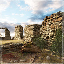 3D Scenery: Drywood Ruins - Extended License image 2