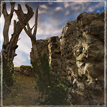 3D Scenery: Drywood Ruins - Extended License image 4