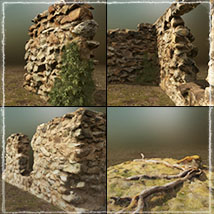 3D Scenery: Drywood Ruins - Extended License image 6