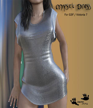 Mystic Dress for G3F / Victoria 7 3D Figure Essentials zachary