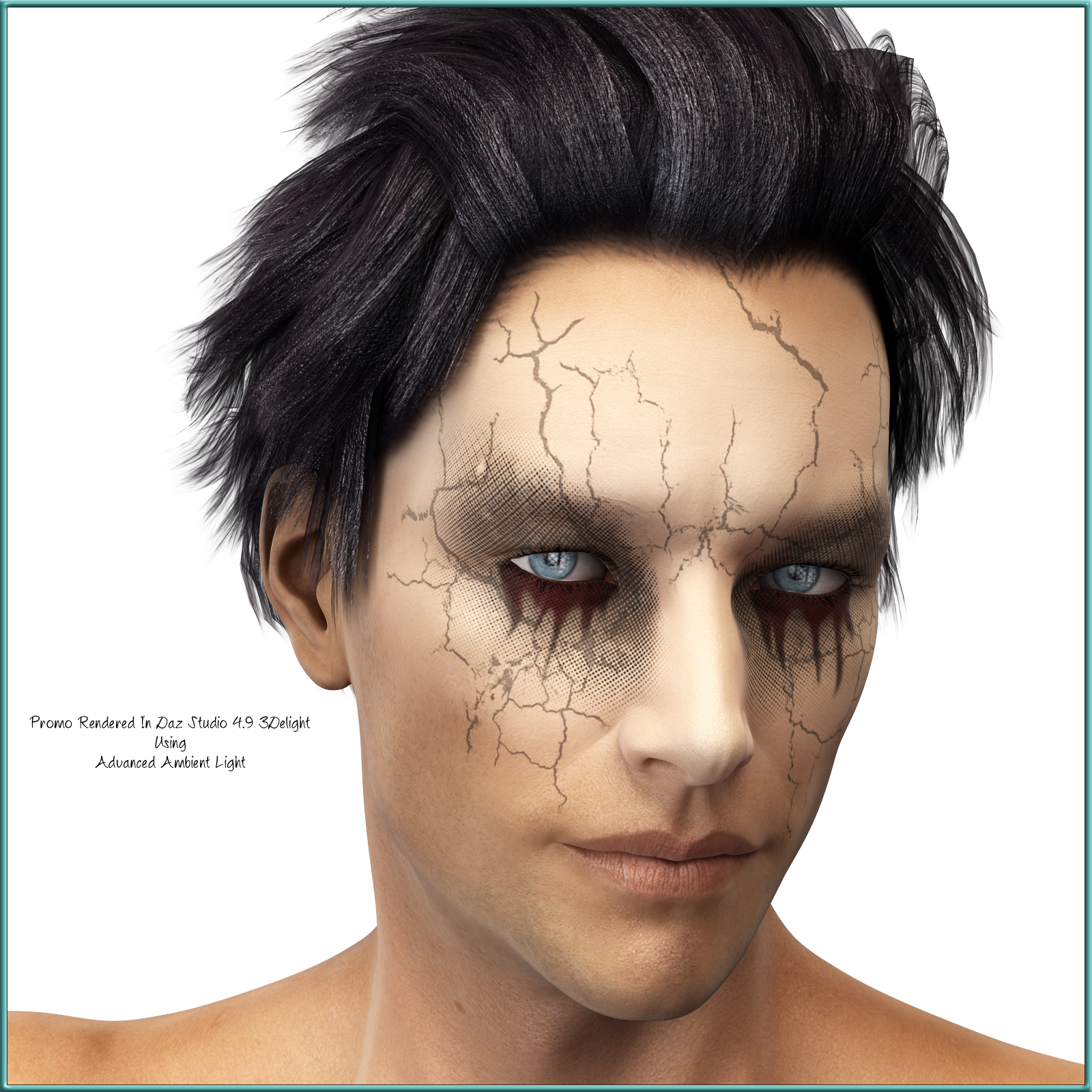 L.I.E Gothic Faces For Genesis 3 Male