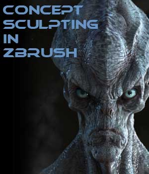 Concepting an alien in Zbrush Tutorials mrthirdeyeching