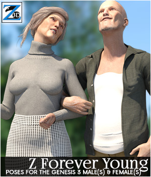 Z Forever Young - Poses for the Genesis 3 Male & Female 3D Figure Essentials Zeddicuss