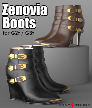 Zenovia Boots for G2f/G3f 3D Figure Essentials kony