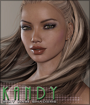 SV's Kandy Iray Hair Shaders 3D Figure Assets Sveva