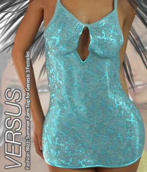 VERSUS - Fashion Blizz: Summer Cami Top for Genesis 3 Females 3D Figure Essentials Anagord