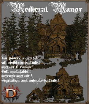 Medieval_Manor 3D Models Dante78
