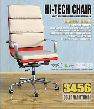 Hi-Tech Chair for Daz Studio 3D Models Software hameleon