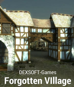 Forgotten Village 3D Models Game Content - Games and Apps Extended Licenses dexsoft-games