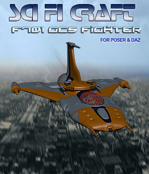 Sci-Fi F701 GCS Air/Space Craft 3D Models Simon-3D