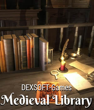 Medieval Library 3D Game Models : OBJ : FBX Extended Licenses dexsoft-games