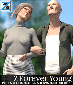 Edna and Murray, Forever Young 3D Figure Assets Zeddicuss