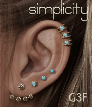 Simplicity Studs for G3F 3D Figure Essentials fabiana