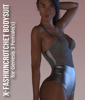 X-FashionCrotchet Bodysuit for Genesis 3 Female(s) 3D Figure Assets xtrart-3d