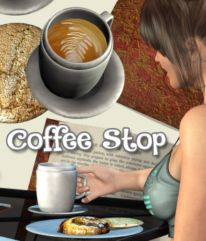 Coffee Stop 3D Figure Assets Darkworld