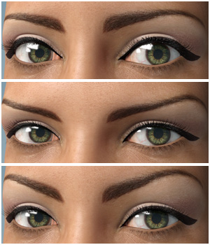 Eyes & Eyebrows Morphs for G3F Vol1 3D Figure Assets Merchant Resources Anagord
