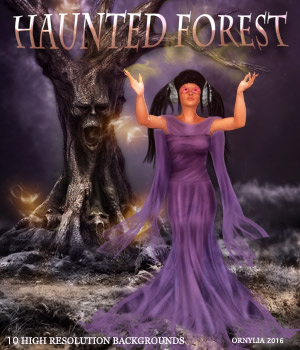 Haunted forest 2D Graphics ornylia