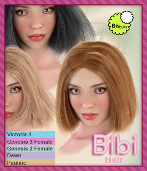 Biscuits Bibi Hair 3D Figure Assets Biscuits