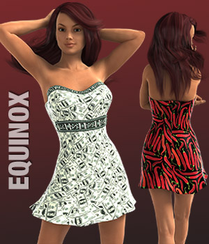 EQUINOX Textures for Strapless Mini Dress (G3/V7) 3D Figure Essentials versluis