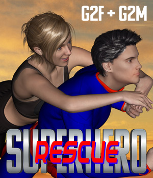 SuperHero Rescue for G2F & G2M Volume 1  3D Figure Essentials GriffinFX