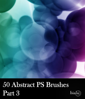 Abstract PS Brushes Part3 2D Graphics 3D Software : Poser : Daz Studio : iClone biala
