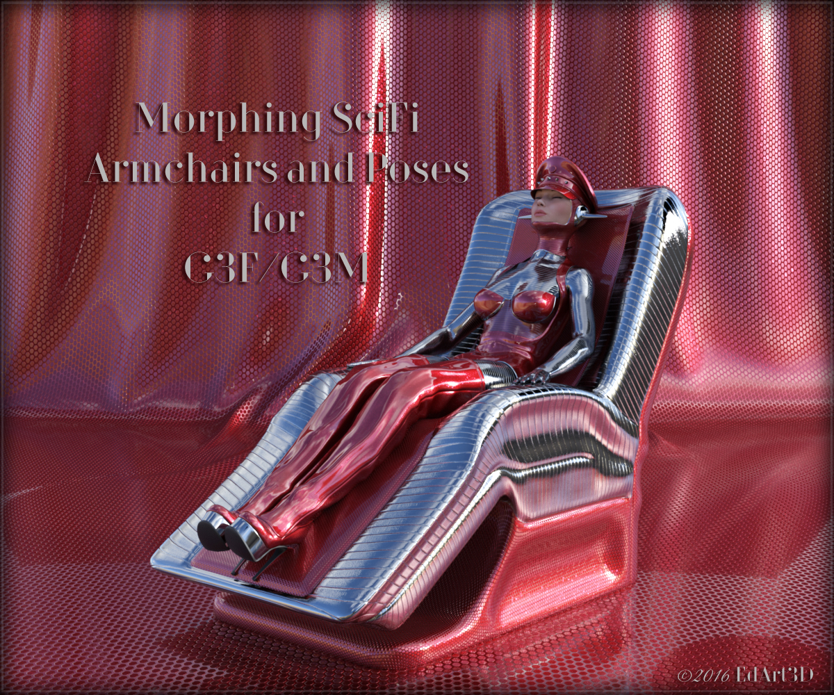 Morphing SciFi Armchairs and Poses for G3F And G3M